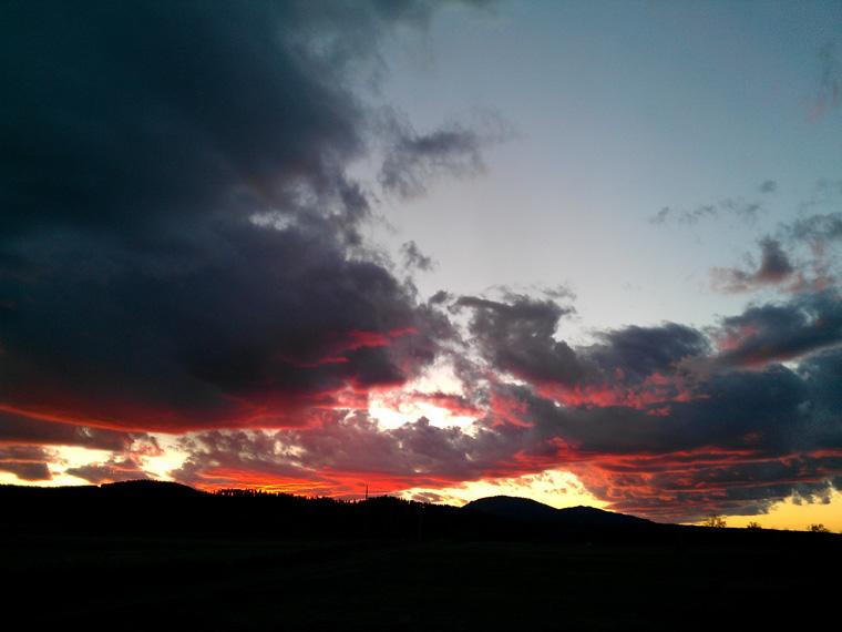 Sunset, October 23, 2011