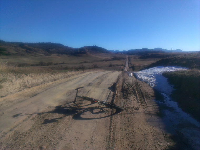 A little gravel, dirt, mud, and snow to finish out the work week!