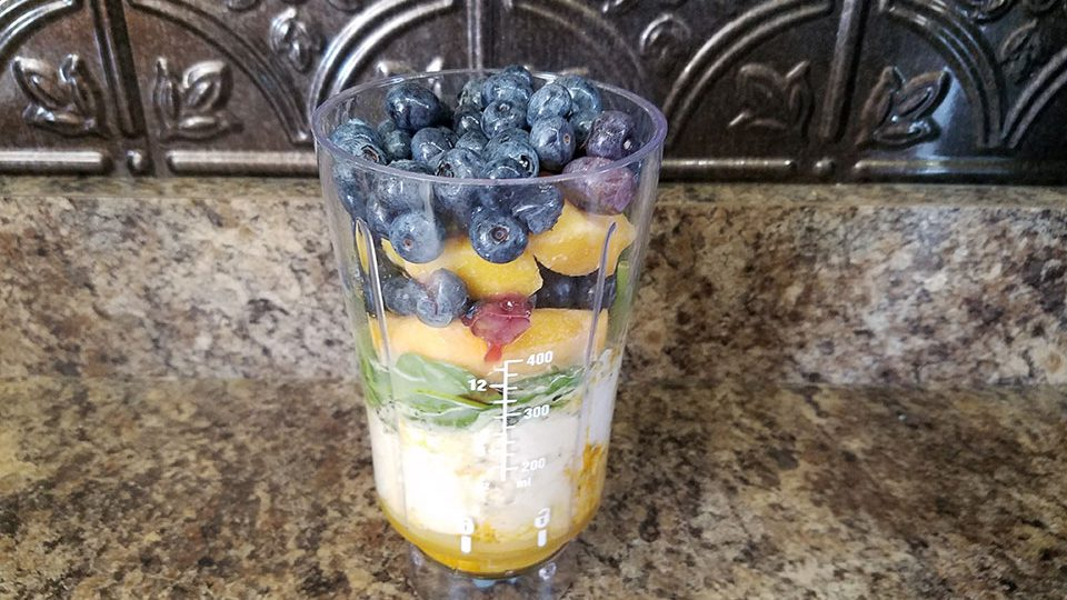 Blueberry Peach Super Shake (pre-blend)