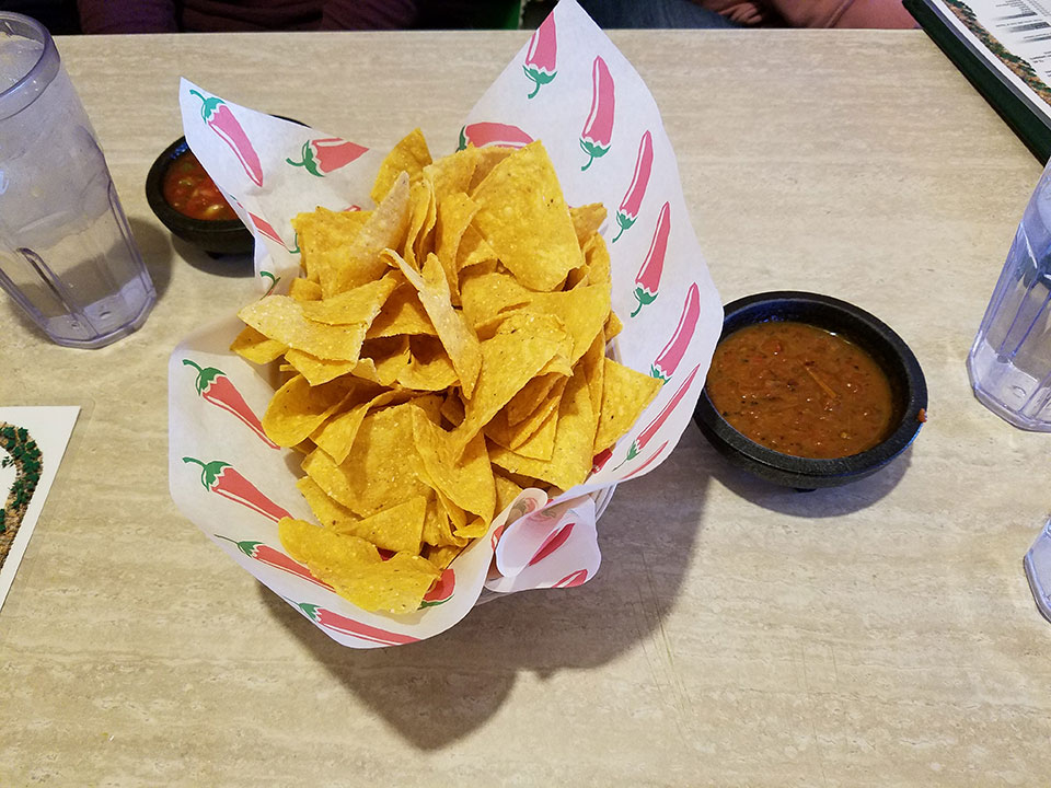 Guadalajara with the family - chips and salsa