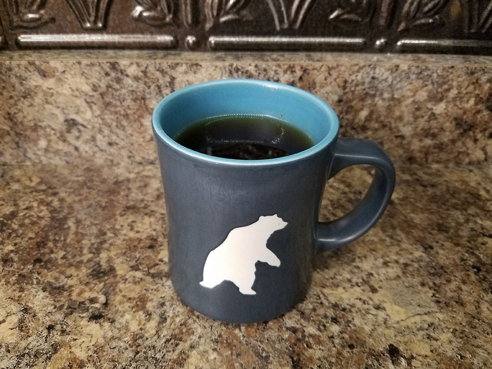 Coffee with 3/4 scoop collagen