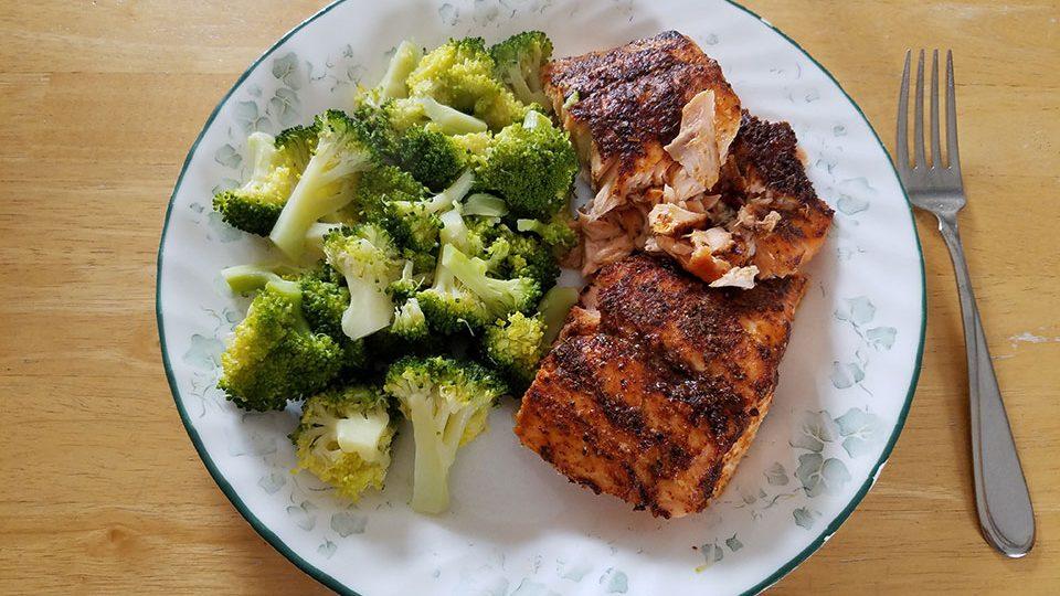 Salmon, broccoli