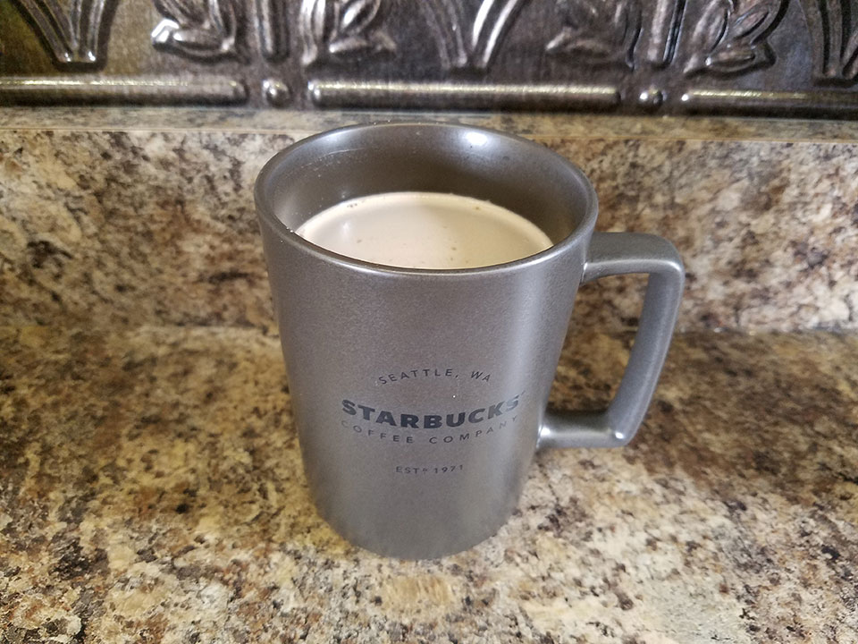 Homemade hot chocolate with 1/2 scoop collagen