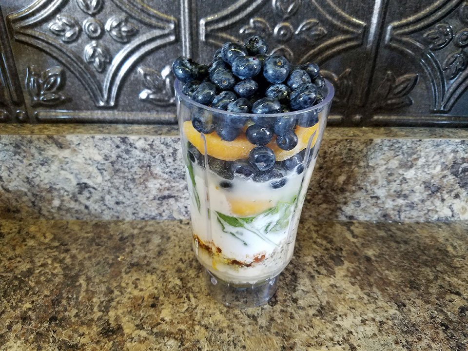 Blueberry Peach Protein Super Shake