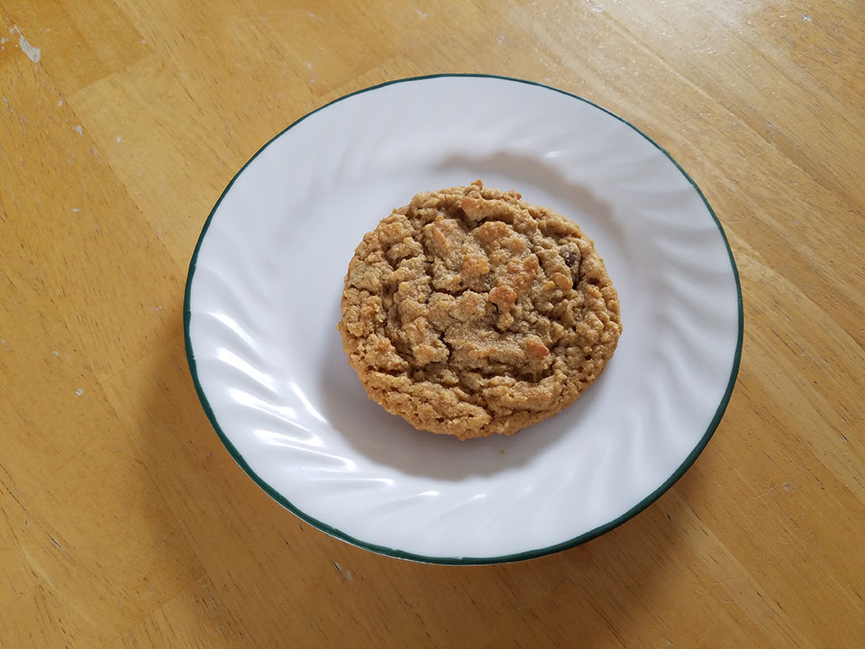 Amy's world-renowned oatmeal peanut butter chocolate chip cookie