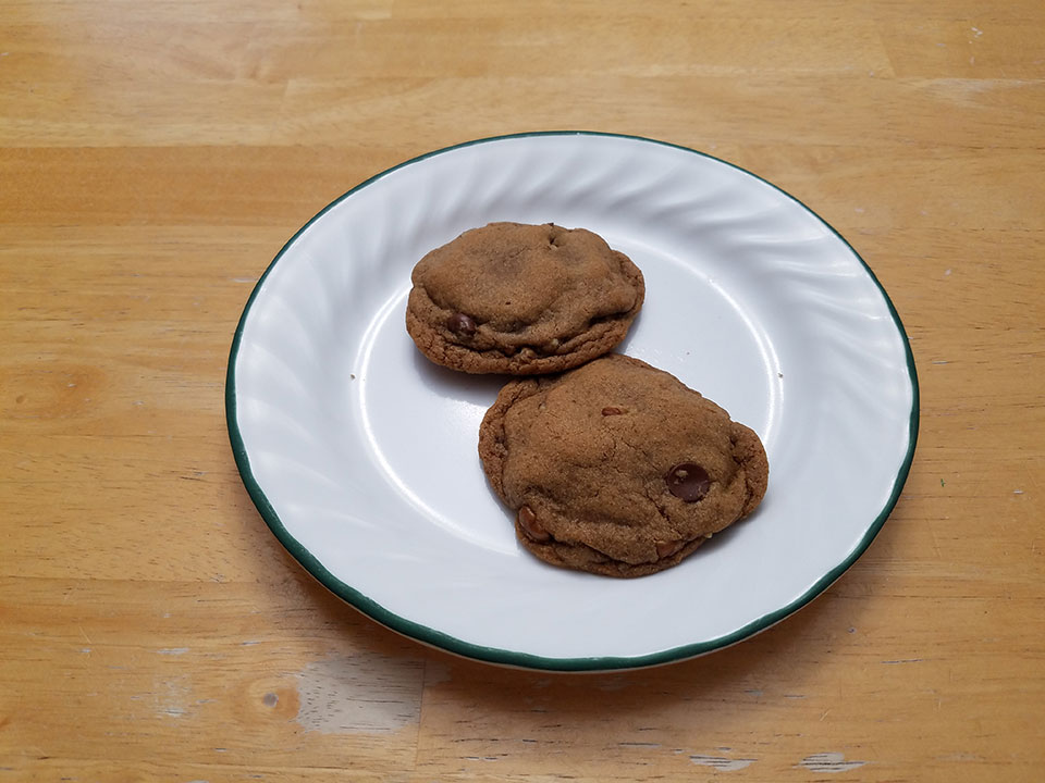Cassava pecan chocolate chip cookies