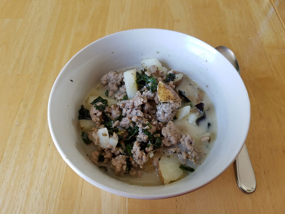 Bowl #2 of paleo zuppa toscana