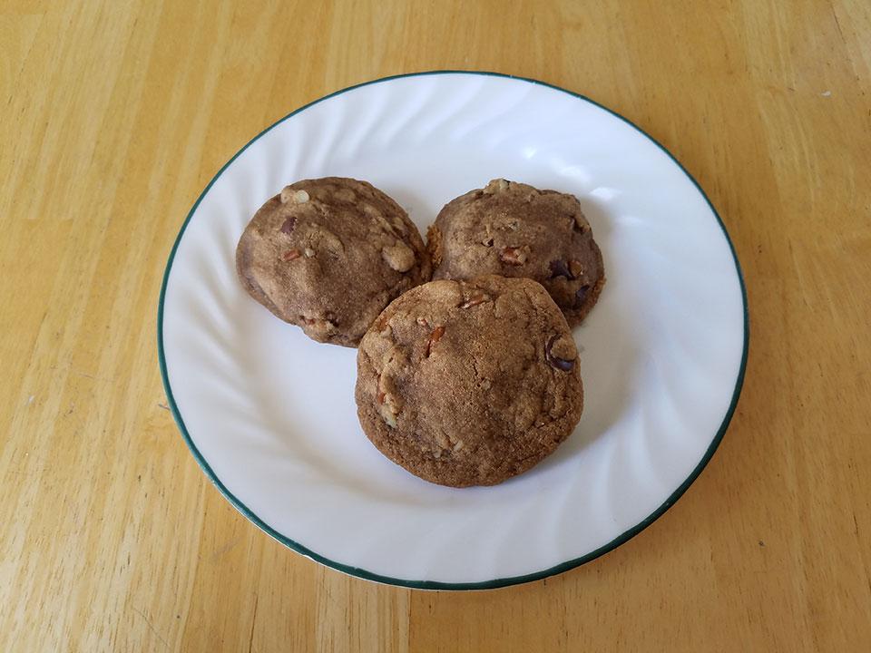 Cassava pecan chocolate chip cookies