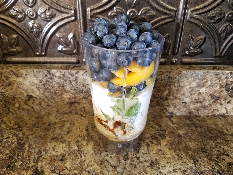 Blueberry Peach Protein Super Shake